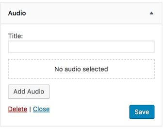 WordPress 4.8 audio widget web design