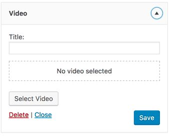 WordPress 4.8 video widget web design