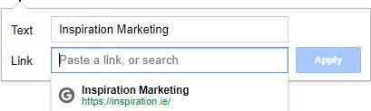 google docs linking