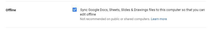 google docs work offline