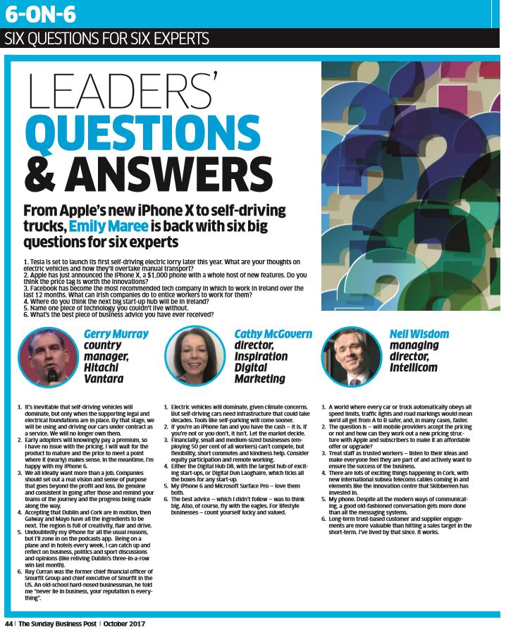 leaders sunday business post