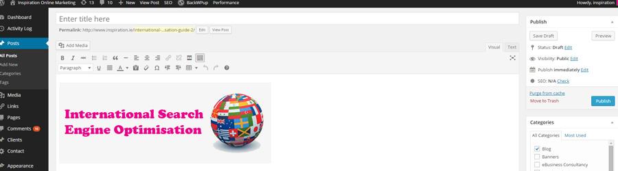International Search Engine Optimisation SEO guide